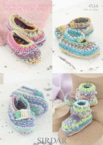 Sirdar Snuggly Baby Crofter DK - 4514 Shoes Knitting Pattern